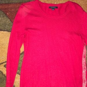 Red banana republic small red long sleeve sweater